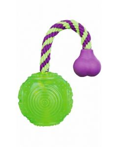 Trixie Ball on a Rope Dog Toy