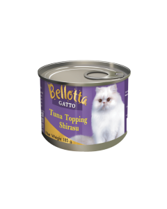 Bellotta Gatto Tuna Topping Shirasu Canned Cat Food 185 gm