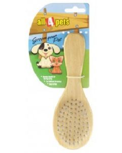All4Pets Soft Wooden Brush Medium