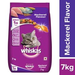 Whiskas Adult (+1 year) Dry Cat Food, Mackerel Flavour, 7kg Pack