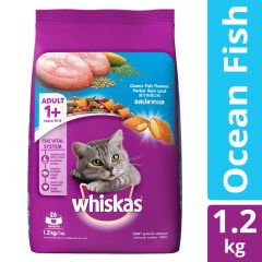 Whiskas Adult (+1 year) Dry Cat Food Food, Tuna Flavour, 1.2 kg Pack