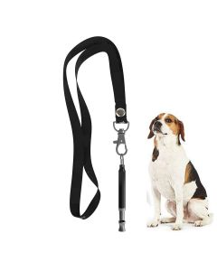 Petsworld Dog Training Whistle With Lanyard Strap Matte Black