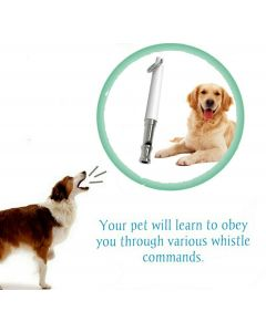 Petsworld Dog Training Whistle With Lanyard Strap Matte White