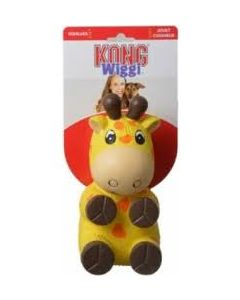Kong Wiggi Giraffe Dog Toy Small