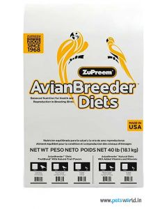 ZuPreem Avian Breeder Diet Natural with Added Vitamins and Minerals Medium Parrots 18.14 Kg