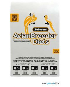 ZuPreem Avian Breeder Diets Fruit Blend for Medium and Large Parrots 18.14 Kg