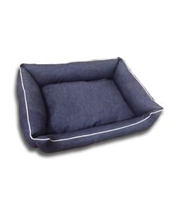 DOGEEZ Cabana Lounger in Denim - Small