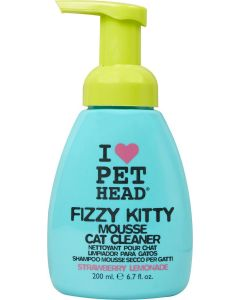 Pet Head Fizzy Kitty Strawberry Lemonade Mousse Cat Cleaner 200ml