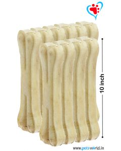 Petsworld Bone Candy Rawhide Bones For Dogs 10 inch 10 pcs