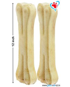 Petsworld Bone Candy Rawhide Bones For Dogs 12 inch 2 pcs