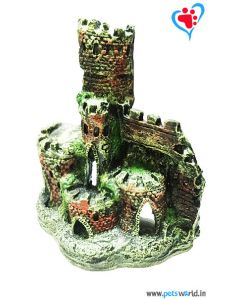 Aqua Geek Aquarium Decoration Ancient Rock Castle
