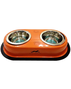 Pets Empire Solid Double Dog Feeding Bowls Set Coloured 2 x 900 ml