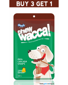 Drools Chew Wacca Liver Browny 150 gms BUY 3 GET 1