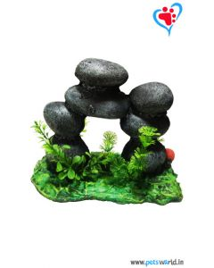 Aqua Geek Aquarium Decoration Rock Stone Gate