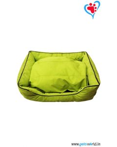 DOG EEZ Lounger Dog Bed Green (LxB : 24x16)