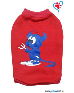DOGEEZ Winter Dog Tshirt Crazy Dog Red 18 inches
