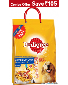 Pedigree Adult Chicken and Vegetables 3 Kg + 4 Gravy Pouches COMBO MIX OFFER