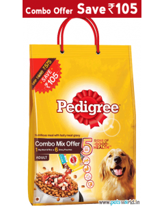 Pedigree Adult Meat and Rice 3 Kg + 6 Gravy Pouches COMBO MIX OFFER