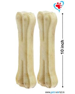 Bone Candy Rawhide Bones For Dogs 10 inch 2 pcs