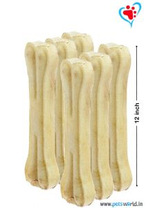 Petsworld Bone Candy Rawhide Bones For Dogs 12 inch 6 pcs