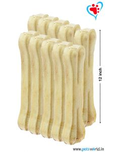 Bone Candy Rawhide Bones For Dogs 12 inch 10 pcs