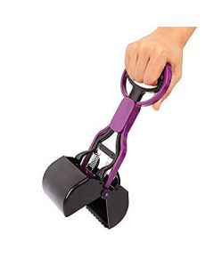 Petsworld Pooper Scooper for Pet Waste-Backyard Pickups 28 cm Lenght Purple