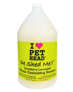 Pet Head De Shed Me Strawberry Lemonade Miracle Deshedding Dog Shampoo 3.8 Ltr