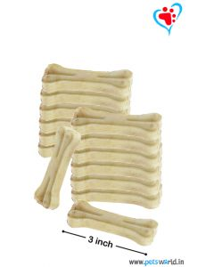 Petsworld Bone Candy Rawhide Bones For Dogs 3 inch 1 Kg