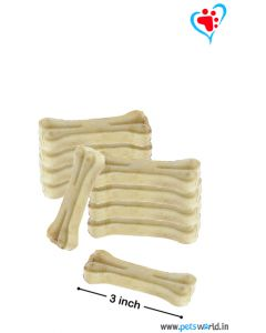 Petsworld Bone Candy Rawhide Bones For Dogs 3 inch 500 gms