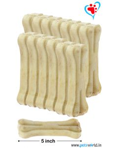 Petsworld Bone Candy Rawhide Bones For Dogs 5 inch 1 Kg