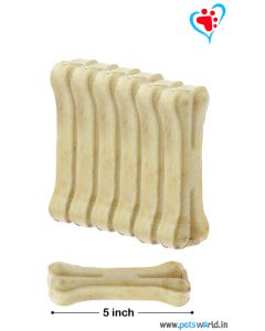 Petsworld Bone Candy Rawhide Bones For Dogs 5 inch 500 gms