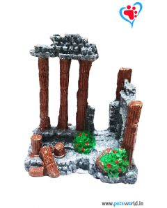 Aqua Geek Aquarium Decoration Roman Pillars