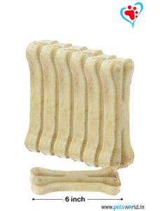 Petsworld Bone Candy Rawhide Bones For Dogs 6 inch 500 gms