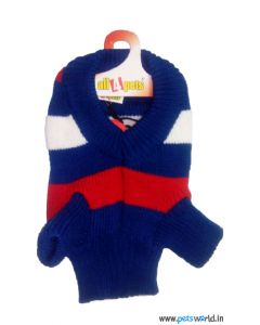 All4Pets Dog Sweater Blue Size 10