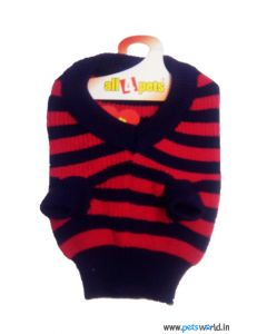 All4Pets Dog Sweater in Red And Violet Striped Size 12