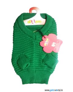 All4Pets Dog Sweater Green Size 16