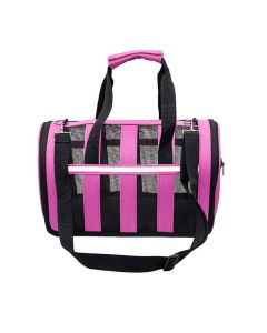 Petsworld Adjustable Detachable Shoulder Strap Soft-Sided Travel Pet Carrier for Small Dogs and Cats, Pink