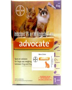 Bayer Advocate For External Parasites For Cats 4 - 8 Kg