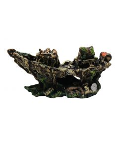 Aquatic Dark And Old Boat Stone For Aquarium Decoration