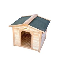 All4Pets Assembled Wooden House Medium LxWxH - 64x61x53 cm
