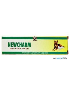 Ayurvet Newcharm Multiaction Skin Gel 25 gms