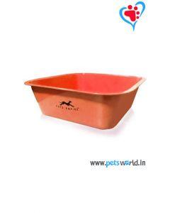 Petsworld Square Dog Bowl (Orange)