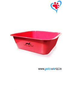 Petsworld Square Dog Bowl (Red)