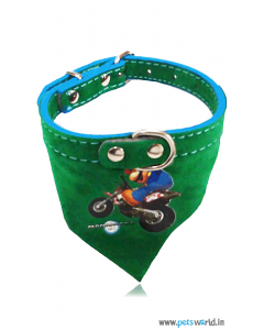 Petsworld Mario Puppy Dog Bandana Collar (Green)