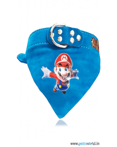 Petsworld Mario Dog Bandana Collar (Blue)