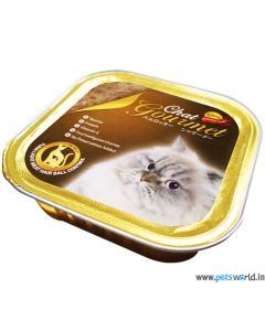 Bellotta Chat Gourmet Tuna Light Meat Hair Ball Control in Jelly Cat Food 80 gm