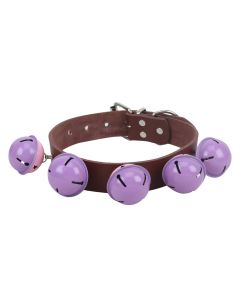 Petsworld High Quality Adjustable Dog Collar 1 Inch with Bell (Brown)
