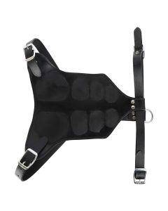 Petsworld Luxury Handmade Genuine Leather Dog Harness Medium (Black)