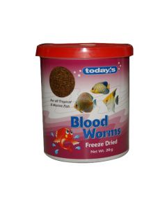 Today's Blood Worm Freeze Dried Fish Food 20 Gm