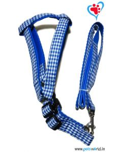 Petsworld Dog Harness with Leash Medium (Blue)
